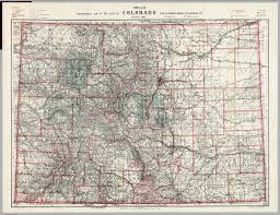 Maps Of Colorado Topographical Map Of The State Of Colorado David Rumsey
