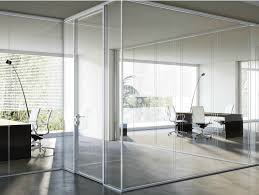 glass partition wall smartia p100 smartia systems collection by alumil
