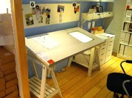 Glass Drafting Table With Light Living Room Amusing Impressive Ikea Drafting Table Modern Tables