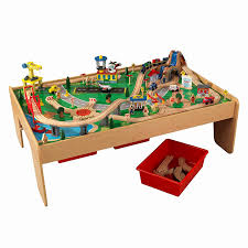 wooden train set table wooden train table with drawers fresh amazon kidkraft waterfall