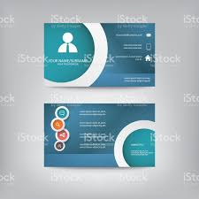 modern simple business card template with elegant flat design