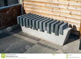 modern stone marble garden bench royalty free stock photo image