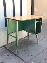 metal desk with laminate top antique student desk chair w cubby american seating wood