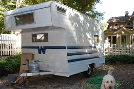 vintage winnebago camper after 1961 minnie winnie new blue