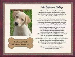 pet memorial personalized pet memorial poem for loss of dog the rainbow bridge ebay