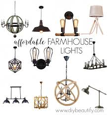 Farmhouse Ceiling Light Fixtures Discount Lighting For Farmhouse Style And A Giveaway Diy Beautify
