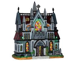 lemax spooky town lemax spooky town all hallows cathedral with adaptor 65072