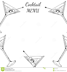 martini bar menu martini cocktails menu stock vector image 90150161