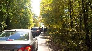 fall colours traffic jams algonquin park muskokaregion