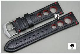 bracelet montre images Bracelet montre cuir hirsch rallye noir rouge automobile racing jpg