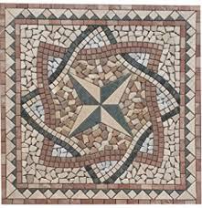 mosaik flie divero rosone sonne 120x120cm naturstein mosaik fliese matte motiv