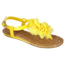 bongo women u0027s sandal malibu yellow shop your way online