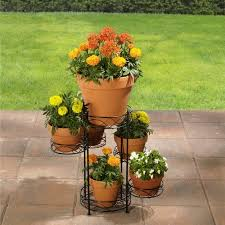 better homes and gardens 6 tier iron wire plant stand walmart com