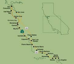 ca map california central coast kayak bike hike map