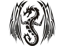 tattoo dragons clipart 88