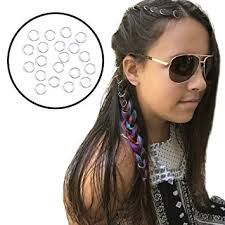 hair jewelry braid rings for hair and dreadlocks 20 pieces of