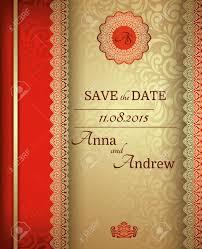 Cover Invitation Card Invitation Card Baroque Golden And Red Vintage Frame Border