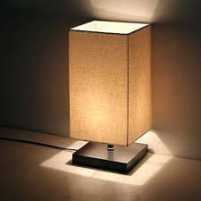 Bed Side Desk Table Lamp St Claire Wood Finish Mid Century Modern Table Lamp
