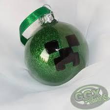 minecraft creeper handmade dough ornament personalized ornaments