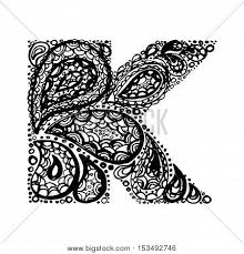 letter k decorative alphabet vector photo bigstock