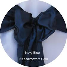 navy blue chair sashes chair sashes satin sash rentals 0 75 ny chair covers