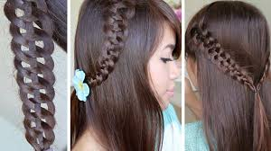 of the hairstyles images 4 strand slide up braid hairstyle hair tutorial youtube