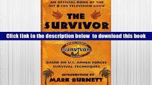 read online the survivor manual an official book of the hit cbs