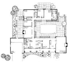 center courtyard house plans with 2831 square feet this is one