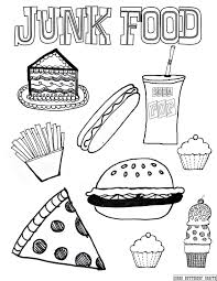 american junk food coloring pages cute thanksgiving food coloring