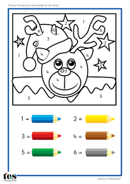 colour numbers teacch activities christmas tesautism