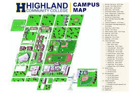 Map Of Florida Colleges by Highland Community College My Hcc Campus Map Campus Map