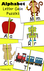 free alphabet letter case puzzles totschooling toddler