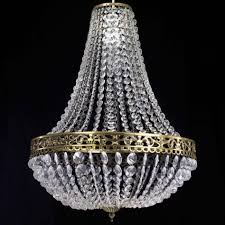 Vintage Crystal Chandelier For Sale Antique Beaded Dome Crystal Chandelier From Strand Theatre Nyc At
