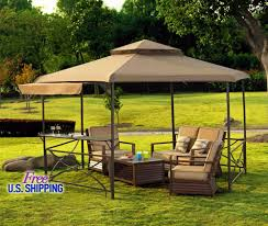 patio gazebo canopy metal fabric gazebo canopy outdoor patio tent garden kiosk shed