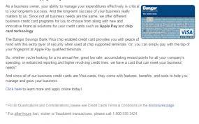 bangor savings bank credit cards personal business banking