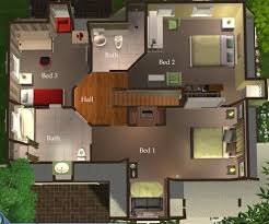 mod the sims 3 bedroom green country style home