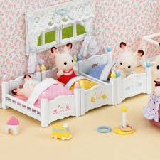 Baby Bunk Bed 1 Set Mini Removable Baby Bunk Bed Sylvanian Families House