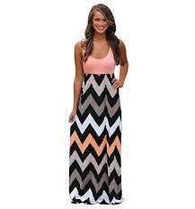chevron maxi dress aliexpress buy 2015 new maxi dress chevron curvy floor