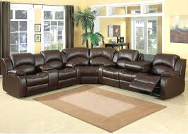 leather recliner sofa with cup holders sectional covers 10617