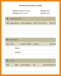 7 business travel itinerary template example of memo