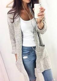 cardigan sweaters grey plain pockets neck sleeve casual cardigan sweater