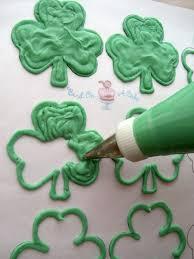 Shamrock Decorations Home Bird On A Cake St Patrick U0027s Day Shamrock Cupcake Toppers