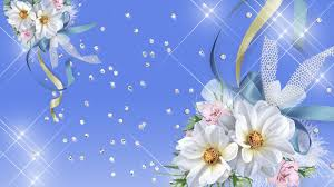 white and blue bows flowers blue bows sparkles ribbon gems persona pink firefox
