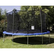 jumpking 14 u0027 trampoline with enclosure