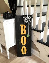 halloween boo sign in 11x32 size custom colors and stains to