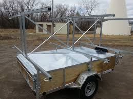 jeep kayak trailer custom canoe trailer with lockable box remackel trailers