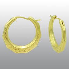 Name Hoop Earrings 10k Gold Resin New Orleans Hoop Earrings