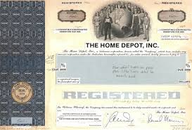 home depot black friday sale 2009 the home depot inc stock certificate mock up