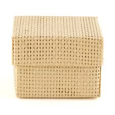 wedding favor boxes woven favor boxes with lids the knot shop