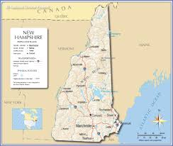 New York State Map With Cities And Towns by Reference Map Of New Hampshire Usa Nations Online Project